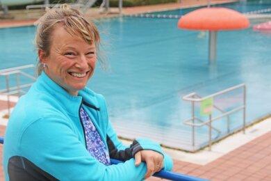"""Ute Flemming kümmert sich als Vorsitzende des Vereins """"reinsberg.er.leben"""" darum, dass der Badebetrieb im Ort läuft."""