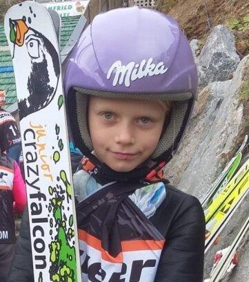 Alexa Windisch startete in Oberwiesenthal erstmals bei einem Skispringen um den Sachsenpokal. Sie wurde Neunte der Mädchen 1.