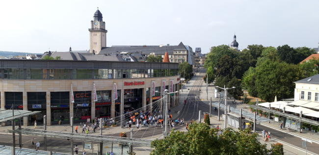 Die Stadt-Galerie in Plauen: Dort eröffnet Ende März eine TK Maxx-Filiale.