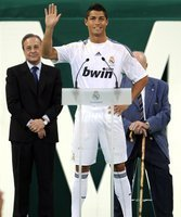 Cristiano Ronaldo bei der offiziellen Präsentation