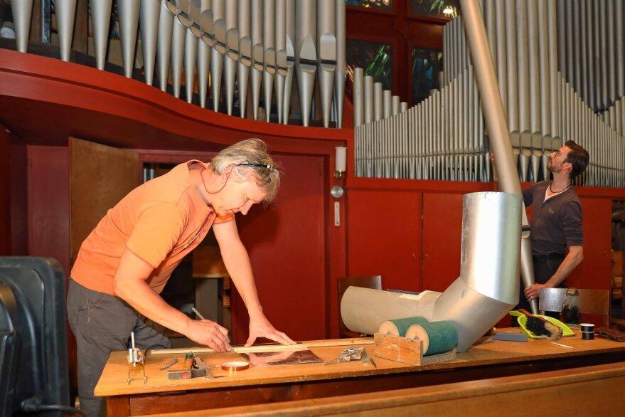 Letzte Töne der Orgelsanierung
