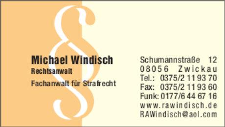 Anzeige: Rechtsanwalt Michael Windisch