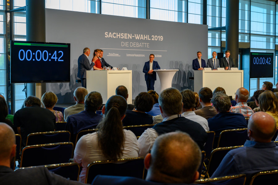 Debatte zur Sachsenwahl: Verwickelte Themen, gut gestreift