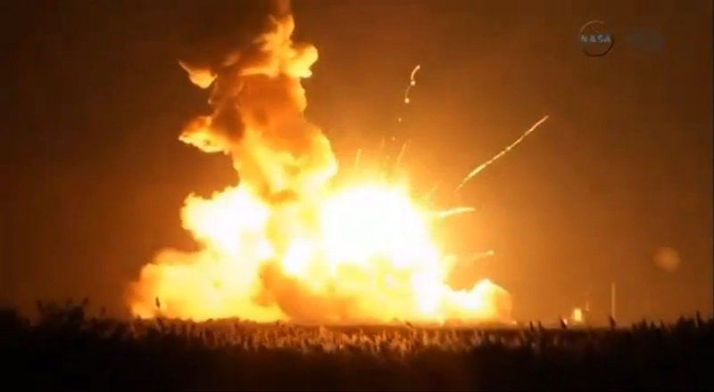 Aufnahmen der Nasa zeigen die Explosion kurz nach dem Start von Cygnus.