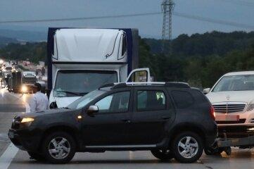 Mehrere Autos waren in eine Karambolage verwickelt.