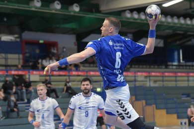 Der EHV Aue hatte den VfL Gummersbach zu Gast - am Ball Kevin Roch.
