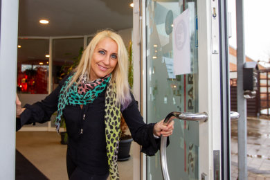 Sportpark-Geschäftsführerin Annett Lachmann hofft, ihr Fitnesscenter am Stadion bald wieder öffnen zu können. In den vergangenen Monaten hat sie unter anderem in neue Technik investiert.