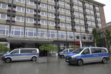Am Sonntag gegen 9 Uhr gab es einen Polizeieinsatz im Chemnitzer Zentrum.