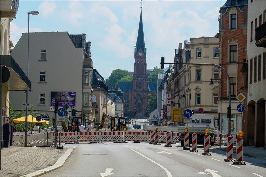 Ist seit 7. Juni gesperrt: die Bundesstraße 101 in Aue.