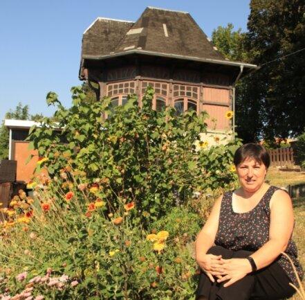 Anja Gründel hat von ihrem Garten aus einen schönen Blick zum Pavillon.
