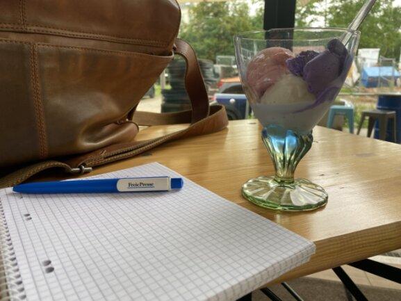 Redakteure der Freien Presse wagen den Geschmackstest an Chemnitzer Eiscafés.