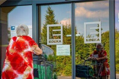 Weil der Strom am Mittwoch in Niederwiesa und Umgebung ausfiel, musste auch der Einkauf im Edeka-Markt ausfallen.