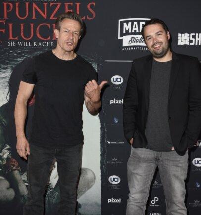 Schauspieler Urs Remond (links) und Regisseur David Brückner bei der Weltpremiere in Berlin.
