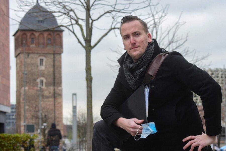 Junger Mann mit Faible für die Geschichte seiner Heimatstadt Chemnitz: Stadtführer Marcel Wächtler (31).