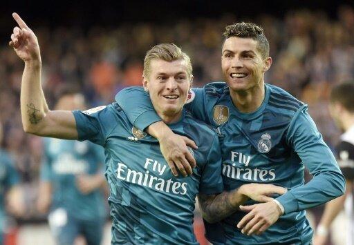 Kroos und Ronaldo schießen Real zum Sieg gegen Valencia