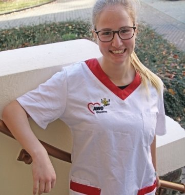 Nancy Rüger wird bei der Awo zur Pflegefachkraft ausgebildet.