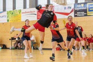 Mit 20 Toren avancierte Jolene Preussler in den beiden Duellen mit dem VfL Meißen zur erfolgreichsten BSV-Werferin.
