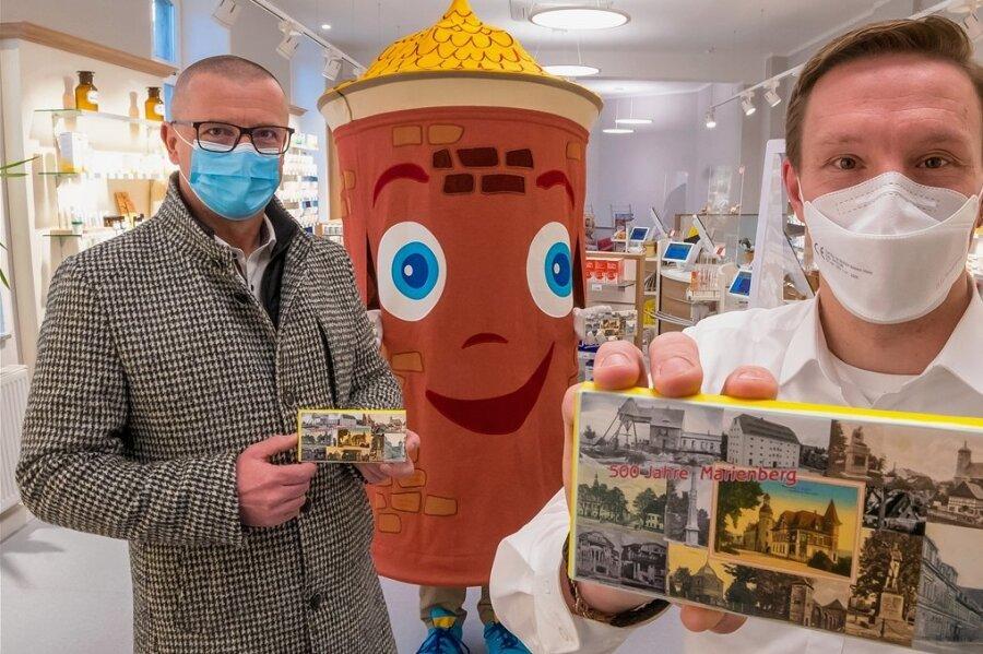 Stärkungsmittel aus der Apotheke: Schokolade zum Marienberger Stadtjubiläum