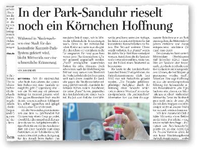 Zuletzt vor einem Jahr hatte eine niedersächsische Kommune die Idee der Park-Sanduhr aufgegriffen, die vor Jahren in Mittweida eingeführt worden war. Nun wird im Vogtland darüber diskutiert.