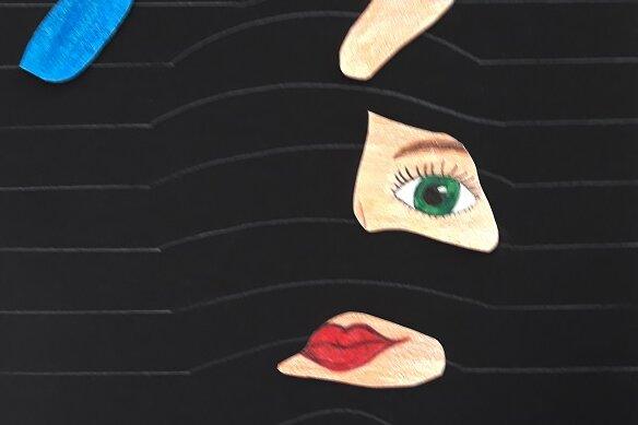 """""""Clara Schumann surreal"""" - Zeichnung und Collage"""