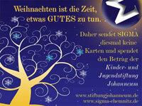 Die diesjährige Weihnachtskarte von SIGMA