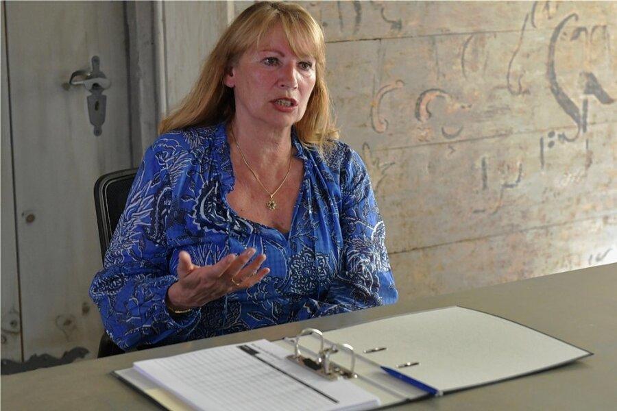 """Sozialministerin Petra Köpping äußerte sich in der """"Freie Presse""""-Lokalredaktion Freiberg zur Impfkampagne in Mittelsachsen."""
