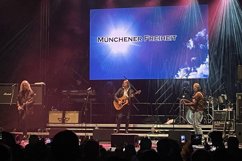 Als Höhepunkt des Abends standen die Münchener Freiheit auf der Bühne.