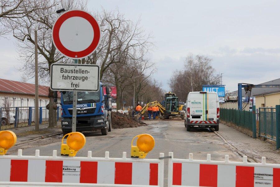 Bürgerschachtstraße ab Dienstag halbseitig offen