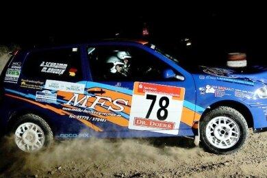 Auch Andreas Schramm und René Meier vom MC Grünhain mischen bei der Lausitz-Rallye mit und wollen im Polo GTI überzeugen.