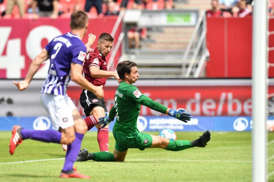 FC Erzgebirge Aue holt zum Saisonauftakt einen Punkt in Nürnberg