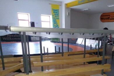 Alles bereit für Sportler und Fans in der Ringerhalle. Doch an Training oder gar Bundesligakämpfe ist derzeit nicht zu denken.