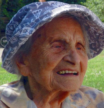 Elisabeth Tränkner aus Rottenburg am Neckar feiert am 11.08.2018 ihren 112. Geburtstag. Nach Angaben der Stadt im Kreis Tübingen, in der die Frau seit 1919 lebt, ist sie damit die zweitälteste Deutsche.