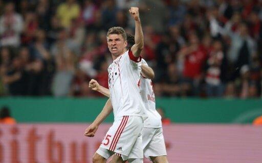 Thomas Müller traf beim 6:2 gegen Leverkusen dreimal