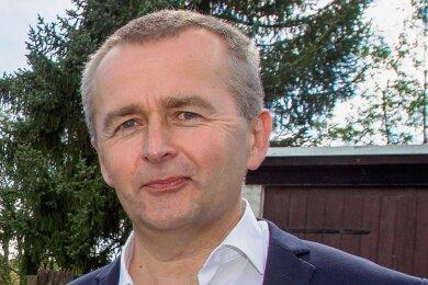 Marko Mühlbauer, Vorstandsvorsitzender der Sparkasse Vogtland.