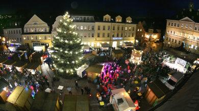 Der Weihnachtsmarkt in Hainichen steht auf der Kippe.