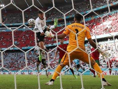 Kai Havertz ist jetzt der jüngste deutsche Torschütze bei einer EM: Beim Tor gegen Portugal war er 22 Jahre und 8 Tage alt.