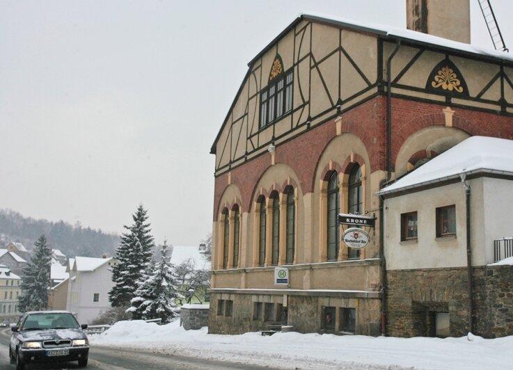 "<p class=""artikelinhalt"">Der ehemalige Gasthof Krone in Beierfeld. </p>"