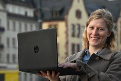 Lehramtsstudentin Josefine Döring findet, dass digitale Prüfungen für die Studierenden auch langfristig von Vorteil sind.
