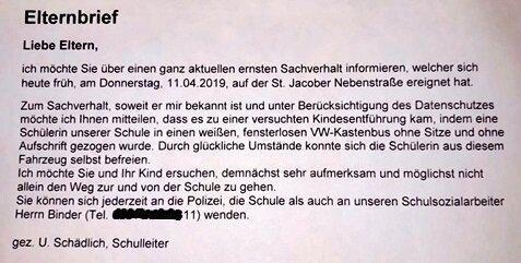 Der Elternbrief.