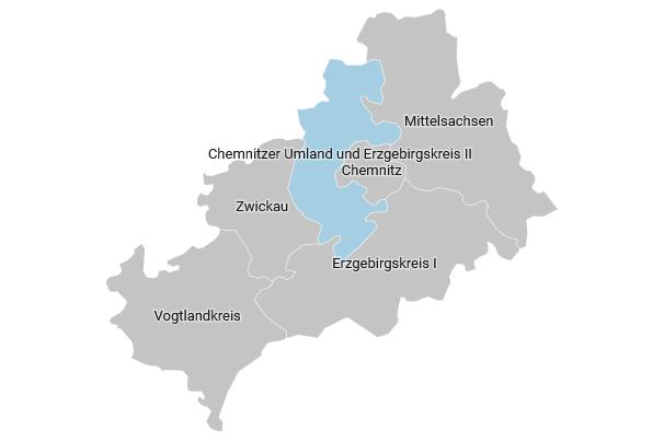 Der Wahlkreis 163 - Chemnitzer Umland und Erzgebirgskreis II im Überblick