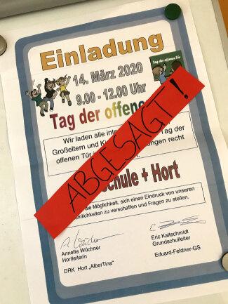 Der am Samstag in Hort und Grundschule in Hainichen geplante Tag der offenen Tür ist abgesagt worden.