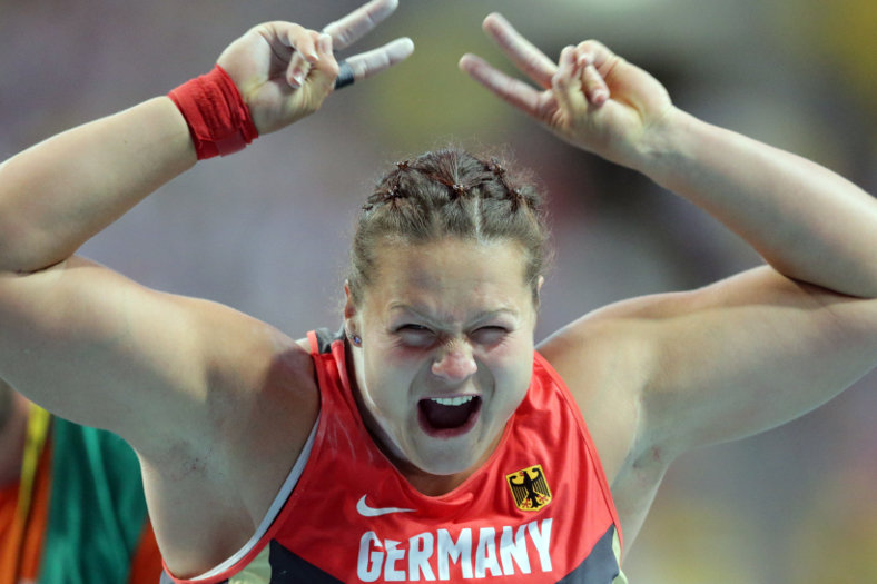 Thumer Kugelstoßerin Christina Schwanitz gewinnt WM-Silber