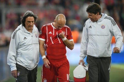 Arjen Robben musste früh verletzt vom Feld