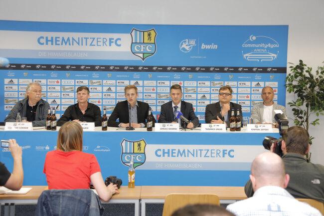 Am Dienstagnachmittag hat der CFC-Vorstand zur Pressekonferenz geladen.