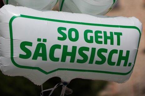 Das Logo der Sachsen-Kampagne. Sie wurde im Sommer vorigen Jahres gestartet und läuft bis 2016.