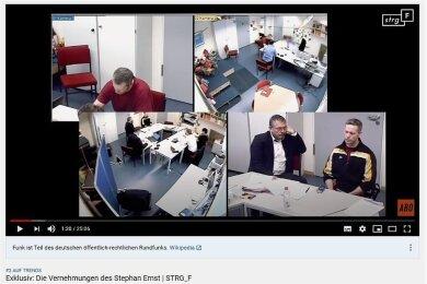 Eine Szene aus dem Video von Funk, das unter anderem Ausschnitte aus der Vernehmung des mutmaßlichen Lübcke-Mörders enthält.