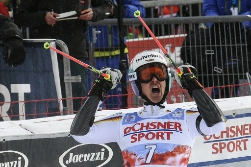 Stefan Luitz fährt im Riesenslalom auf Platz eins