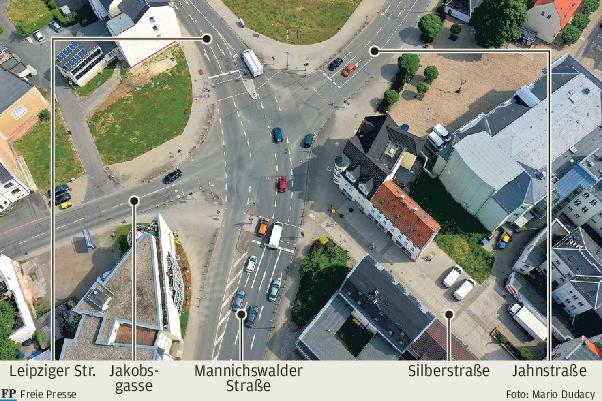 Mannichswalder Platz: Stadt favorisiert einen Kreisverkehr