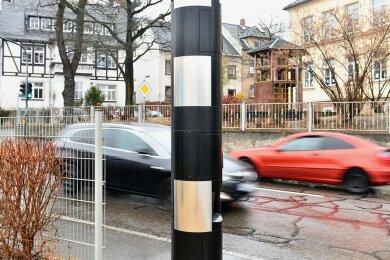 In vier Jahren hat der Blitzer in der Freiberger Anton-Günther-Straße 28.800 Temposünder ertappt.