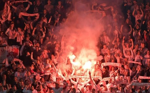 Die Fans von Mainz 05 zündeten in Nürnberg Pyrotechnik
